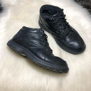 Dunham Men's Black Leather Ankle Boots